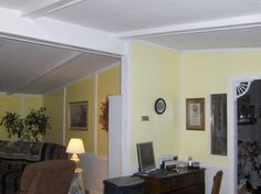 painting mobile home walls and using new trim to cover the seams