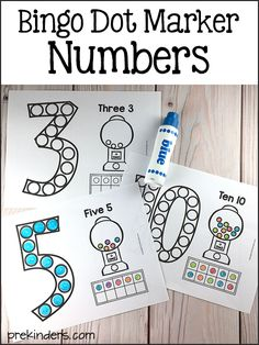 Bingo Dot Marker Numbers Printable
