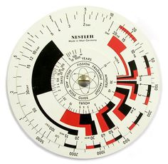 Nuclear slide rules and dials