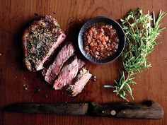 Strip Steak with Japanese Dipping Sauce by David Myers, Bonn Appetit via aepicurious #Beef #Steak #Japanese