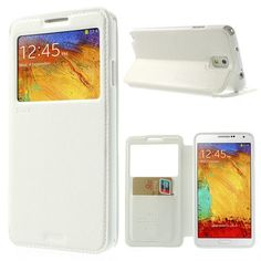 For Samsung Galaxy Note 3 Case Roar Korea Noble Leather View Window Flip Stand Case for Samsung Galaxy Note 3 N9000 N9005