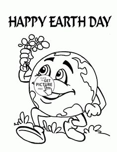 cute earth earth day coloring page for kids coloring pages printables free wuppsy - Kids Colouring Pages To Print