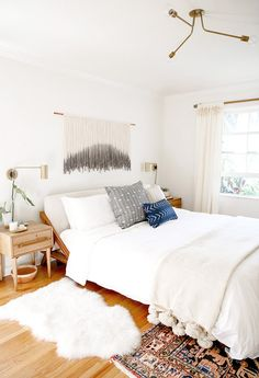 master bedroom nursery makeover for max & margaux wanger // sarah sherman samuel // Envoy wall sconces by Schoolhouse