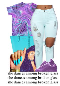 """Purple rain☔️"" by fashionkilla-lex ❤ liked on Polyvore featuring Michael Kors"