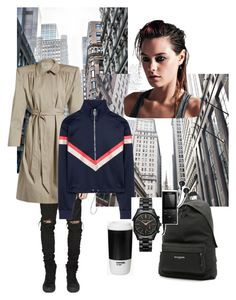 """""""Style of the town"""" by liza-pivovarova on Polyvore featuring Balenciaga, Versace, Michael Kors and Sony"""