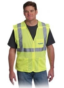 Promotional Products Ideas That Work: CLASS 2 BREAKAWAY MESH VEST. Get yours at www.luscangroup.com