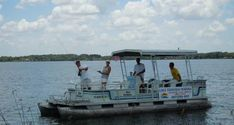 Pontoon Boat       $40 per hour/2 hour minimum      $185 for the day
