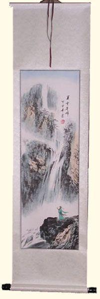 Oriental Furnishings - Oriental Silk Scroll: Wise Man With Waterfall, $49.00 (http://www.orientalfurnishings.com/oriental-silk-scroll-wise-man-with-waterfall/)