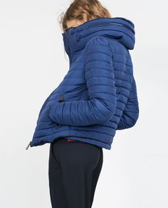 Image 4 of QUILTED COAT WITH FAUX FUR COLLAR from Zara