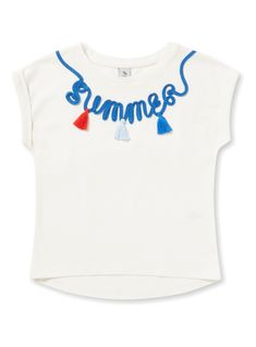 Cream Summer T-Shirt (3-14 years) from Tu at Sainsbury's ! Your Online Shop for Girl's Tops & T-Shirts