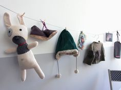 another cute idea for displaying baby stuff