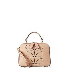Orla Kiely | UK | bags | Mainline bags | Textured Leather Mini Bay Bag (16SBTEX028) | nude