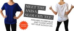 ANISA Slouchy Tee Launch Deal on Slinkyfeline! Buy one ANISA Tee and get £10 off something else! Use code 'SLOUCHTASTIC'