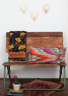 beautiful bench - styled by sana keefer via simply grove