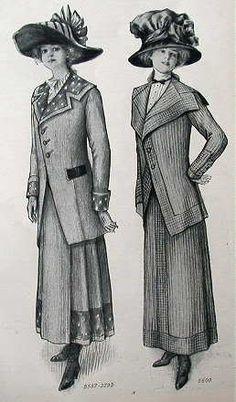bygonefashion: 1890's - 1910's fashion