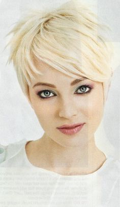 Soft Layered Blonde Pixie Haircut