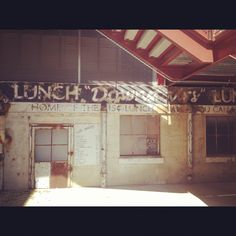 Durham, NC. This is located towards the back past the tower. Where the workers used to eat.