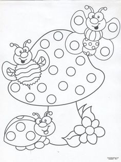 find this pin and more on riscos de joaninhas - Colouring Pictures For Toddlers