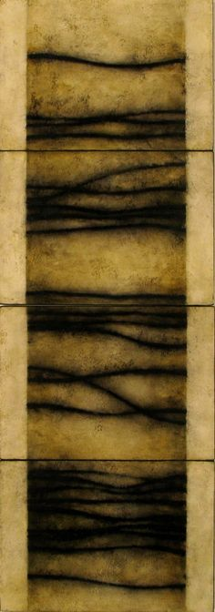 "Luisa Sartori, ""Senanque"", gesso, oil on paper on wood"