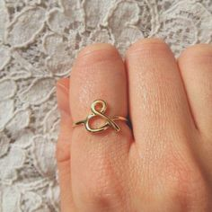 Delicate Simple Gold Ampersand Ring  Book by ToTheCavern on Etsy