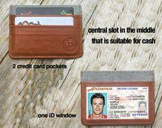 Mens Wallet Slim wallet Leather walletCredit Card by DublonLeather