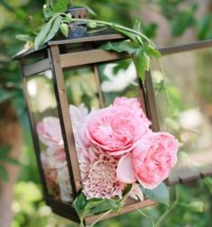 pink lantern floral wedding party event decor from flower magazine