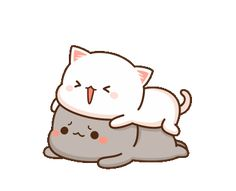 The perfect Peachcat Cat Cute Animated GIF for your conversation. Discover and Share the best GIFs on Tenor. Cute Cartoon Pictures, Cute Couple Cartoon, Cute Love Cartoons, Cute Kawaii Animals, Kawaii Cat, Chibi Cat, Cute Chibi, Cute Love Gif, Cute Cat Gif