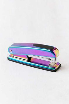 Stapler of our dreams in an oil slick finish - perfect for pairing with our Oil Sllick Scissors for one edgy set of desk accessories! Cool School Supplies, Desk Supplies, Craft Supplies, Office Supplies, Stationary Store, Cute Stationary, School Suplies, Office Accessories, Too Cool For School