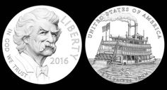 Designs for 2016 $5 Mark Twain Commemorative Gold Coins