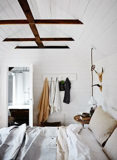 modern, rustic bedroom