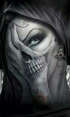 Skull Tattoo Ideas and much more on our site. Totenkopf Tattoos, La Muerte Tattoo, Catrina Tattoo, Chicano Tattoos, Body Art Tattoos, Badass Tattoos, Cool Tattoos, La Catarina Tattoo, Tattoo Ideas