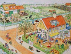 Praatplaat Bas - Lente (getekend door Dagmar Stam)