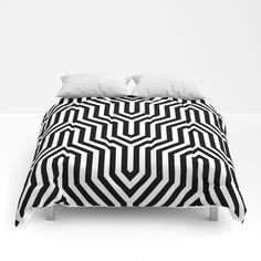 Buy Retro Chevron B&W Comforters by bitart. Comforter Sets, Scandinavian Bedroom, Scandinavian Design, Uo Home, Small Home Offices, Garden Route, Nordic Home, Bohemian Decor, Bohemian Decorating