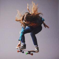 """Sierra_Prescott : Skateboarding makes me smile :) """""""