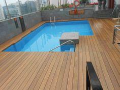 Decking Oils (013 Garapa Oil) applied to the decking at a hotel resort in Peru
