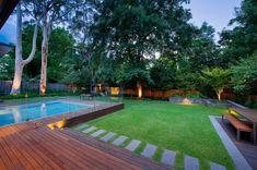 area con piscina