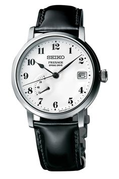 Classic design, Japanese artistry and state of the art innovation! Meet the new Seiko Presage Prestige Line Enamel Dial Spring Drive & Seiko Presage, Sport Watches, Watches For Men, Design Japonais, Breitling Watches, Fossil Watches, Casio Watch, Quartz Watch, Jewelry Gifts