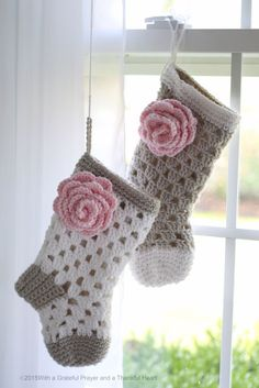 With a Grateful Prayer and a Thankful Heart: Babies 1st Christmas Crochet Stocking Shower Gift