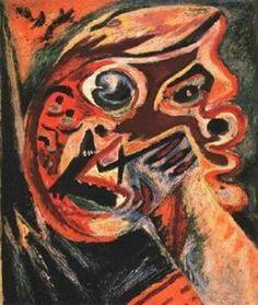 orange cabeza - (Jackson Pollock)