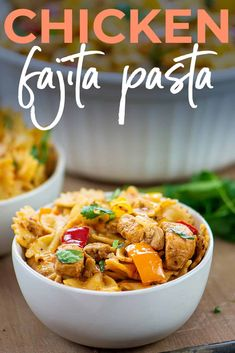 Pasta Recipes, Chicken Recipes, Delicious Dinner Recipes, Delicious Food, Dinner Today, Chicken Fajitas, Chicken Seasoning, Everyday Food, How To Cook Pasta