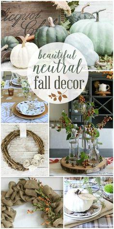Beautiful Neutral Fall Decor