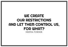 #42 we create our restrictions...