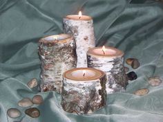 18 sets of Natural Birch Tealight Candle Holder by Northwoodswood, $288.00