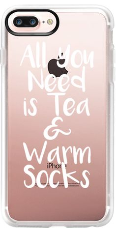 Casetify iPhone 7 Plus Case and iPhone 7 Cases. Other Weekend iPhone Covers - All You Need is Tea by Emanuela Carratoni | Casetify
