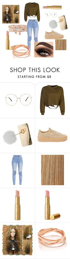"""""""rose gold- my boyfriends football game"""" by sjan4070 on Polyvore featuring Forever 21, WithChic, Miss Selfridge, Puma, Too Faced Cosmetics and Accessorize"""