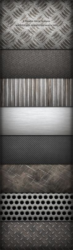 8 Tileable Metal Textures