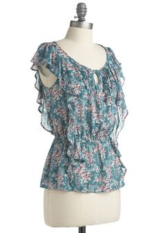 There is nothing I don't love about this blouse and its fluttery loveliness.