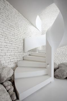 Professionals in staircase design, construction and stairs installation. In addition EeStairs offers design services on stairs and balustrades. Interior Stairs, Interior Exterior, Brick Interior, Interior Plants, Scandinavian Interior, Minimalist Interior, Modern Interior Design, Pastel Interior, Interior Sketch