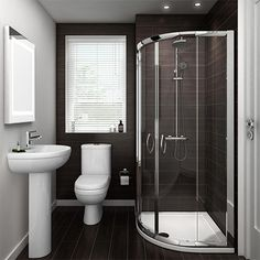 Looking for a small bathroom remodel ideas? Don't worry, we show some of our favorite small bathroom remodel ideas that really work. Get ready to have a small bathroom that looks twice bigger than its original size with Woodoes team! Bathroom Layout, Modern Bathroom Design, Bathroom Interior, Bathroom Ideas Uk, Bathroom Designs, Shower Room Ideas Tiny, Interior Paint, Small Bathroom Remodeling, Bathroom Images