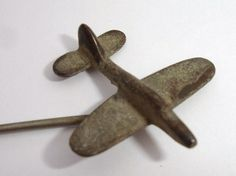 Trench art spitfire stick pin - no reserve Prison Art, Stick Pins, Trench